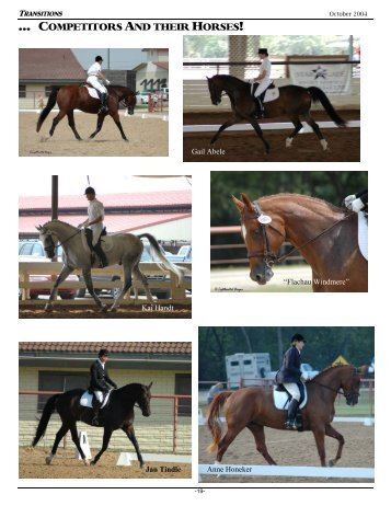 … COMPETITORS AND THEIR HORSES! - Dallas Dressage Club