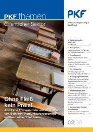 Heft 2 06/2009 Ohne Fleiß kein Preis! - PKF