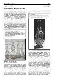 """Press-geblasene """"Rosoglio""""-Flaschen - Pressglas-Korrespondenz"""