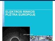 Elektros rinkos plėtra Europoje