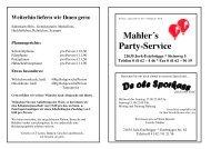Angebot - Fleischerei und Partyservice Mahler