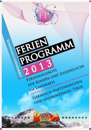 für die Älteren! - Kommunale Jugendarbeit Garmisch-Partenkirchen