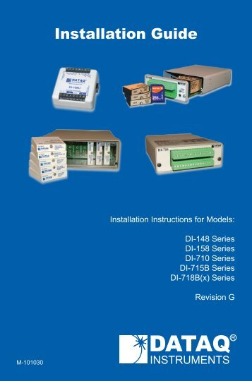 Installation Guide - DATAQ Instruments