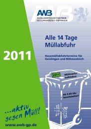 Mülltonnen? - Abfallwirtschaftsbetrieb  des Landkreises Göppingen