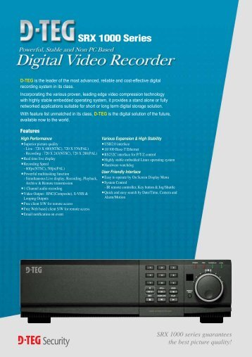 SRX 1000 Series - Data Control Technologies