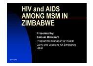 HIV and AIDS AMONG MSM IN ZIMBABWE - SAfAIDS