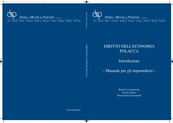 Broschur Economia Polacca US:Layout 1.qxd - Derra, Meyer & Partner