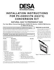 installation instructions for pc-chdv37n (02273) conversion kit - Desa