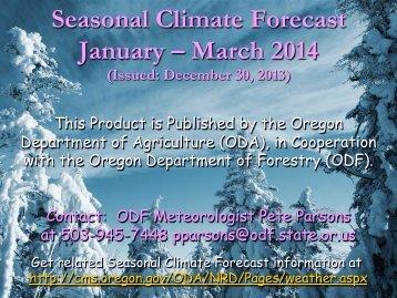 Seasonal Climate Forecast Adobe PDF - State of Oregon