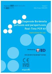 Diagenode Bordetella pertussis and parapertussis Real-Time PCR kit