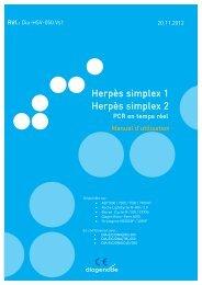 Herpès simplex 1 Herpès simplex 2 - Diagenode Diagnostics