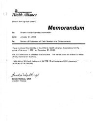 C2.19 ACCOUNTING 2004 - Ontario Health Libraries Association