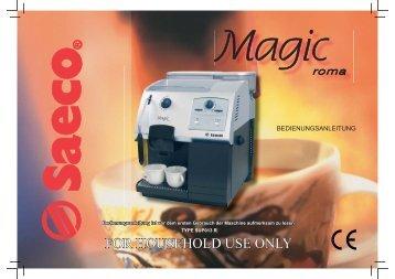 saeco primea cappuccino touch plus service manual