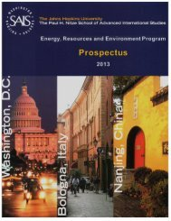 energy, resources and environment program - Johns Hopkins ...