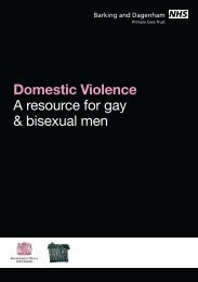 Domestic Violence - A Resource for Gay & Bisexual Men