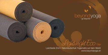 www.beyondyoga.ch Lightweight Eco Mat