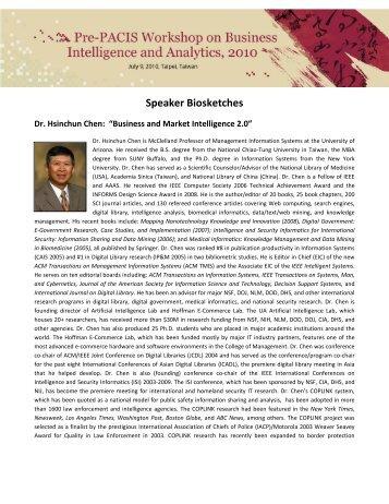 Speaker Biosketches - Artificial Intelligence Laboratory - University ...