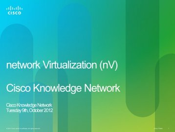 nV - Cisco Knowledge Network