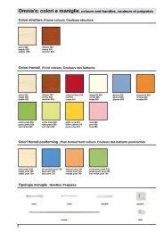 Omnia's: colori e maniglie_colours and ... - imbutor.hu