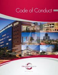 Code of Conduct - Orlando Health