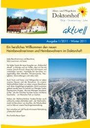 Download Heimzeitung Winter 2011 - und Pflegeheim Doktorshof