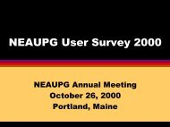 NEAUPG User Survey 2000