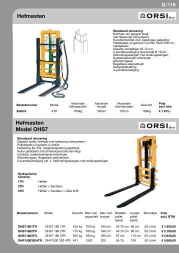 Hefmasten Hefmasten Model oHs7