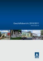 Geschäftsbericht 2010/2011 (PDF) - AVW Immobilien