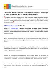 UK Health Radio Launches Funding Campaign via Indiegogo to Help Deliver Its Health and Wellness Vision.pdf