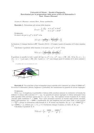 Lezione6 - Dipartimento di Matematica e Informatica