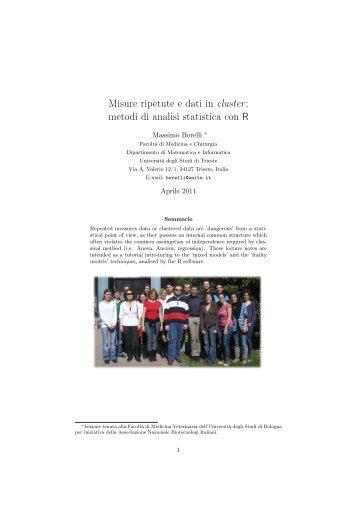 Quaderno Didattico n. 56 - Dipartimento di Matematica e Informatica