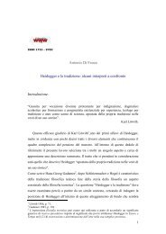 Antonio Di Fenza Heidegger e la tradizione: alcuni ... - Filosofia.it
