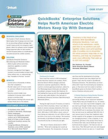 QuickBooks® Enterprise Solutions Helps North American ... - Intuit