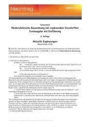 Niedersächsische Bauordnung mit ergänzenden Vorschriften ...