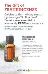Frankincense - dōTERRA - Essential Oils