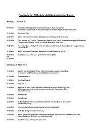 Programm 100-Jahr-Feier - GastroGraubünden