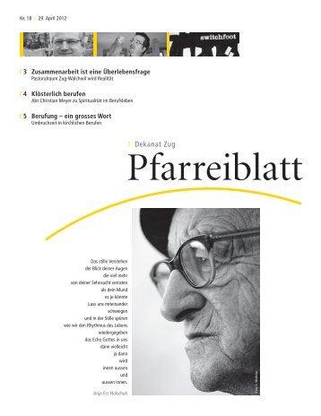 Nr. 18 - Pfarreiblatt