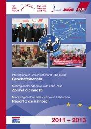 Geschäftsbericht Zpráva o činnosti Raport z ... - 'IGR Elbe-Neiße'.