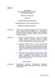 Peraturan Menteri Pendidikan Nasional Nomor 20 Tahun 2007
