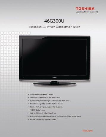 46G300U - Toshiba Display Systems