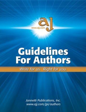Jannetti Publications Guidelines For Authors - Pediatric Nursing