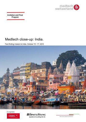 Medtech close-up: India. - Swissmem