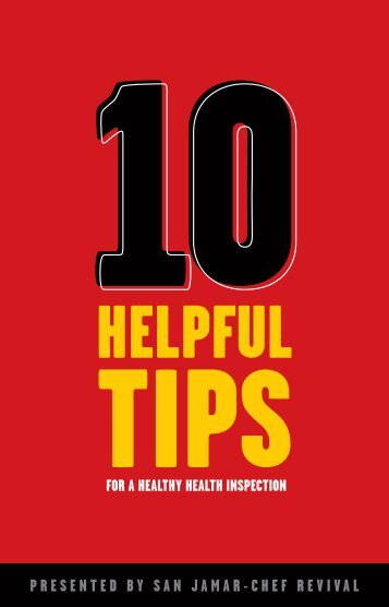 Top 10 tips to pass your restaurant health inspection (PDF) - Dvorsons