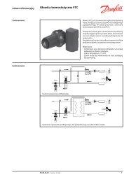Głowica termostatyczna FTC - Danfoss