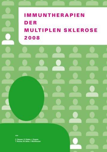 IMMUNTHERAPIEN DER MULTIPLEN SKLEROSE 2008