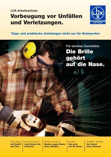 Vorbeugung vor Unfällen  und Verletzungen. Die Brille ... - AX Soling