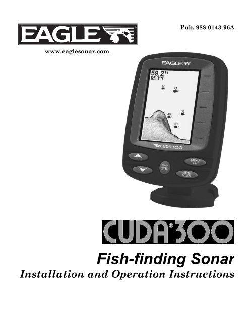 sonar eagle cuda 300 manual portugues