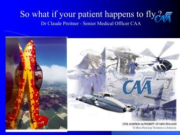 So what if your patient happens to fly - General Practice Conference ...