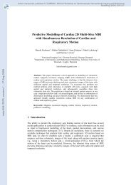 Predictive Modelling of Cardiac 2D Multi-Slice MRI with ...