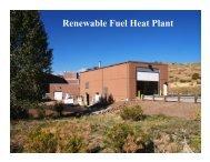 Renewable Fuel Heat Plant - Biomass Thermal Energy Council